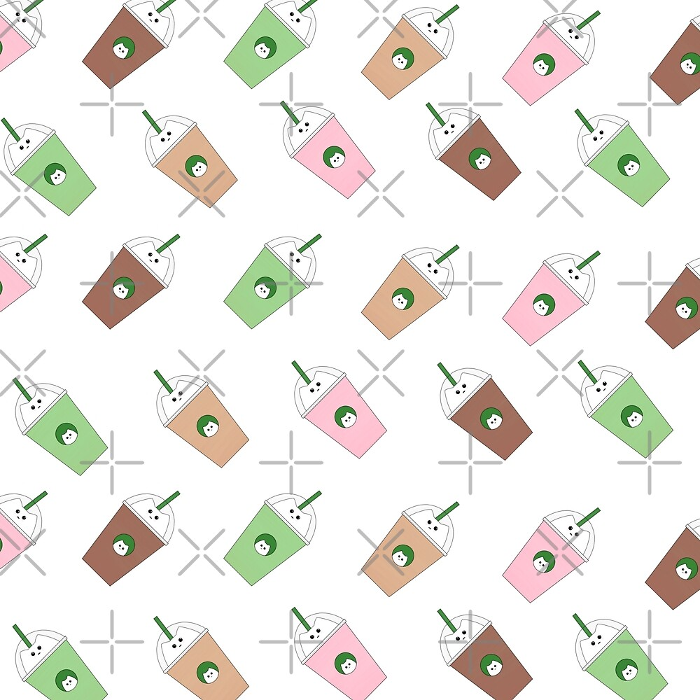 Catbucks Catuccino Pattern by ahillustration