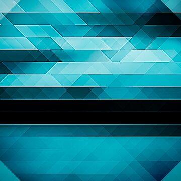 Abstract triangular design by cvetim