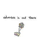 adventure is out there sticker by kathumphrey