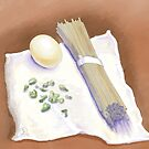 Soba, Egg, Scallion by Michelle Bocklage