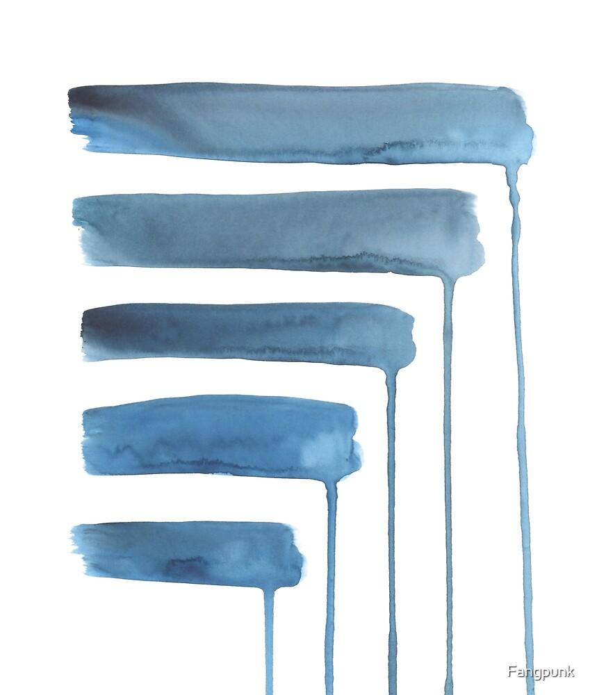 Blue Watercolour Minimalist Print by Fangpunk