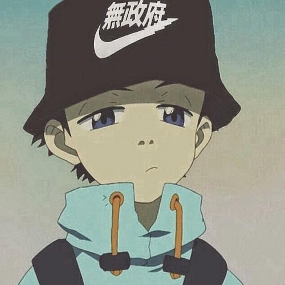 Anime Bucket Hat Aesthetic by papakrispy