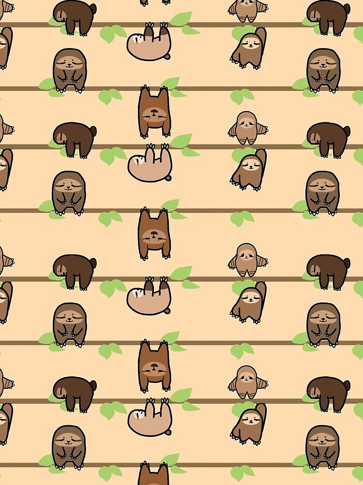 Sloth Family by abbstadoo