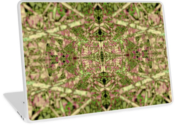 Fractal texture pattern geometric background nature plant painting by Christian Muller
