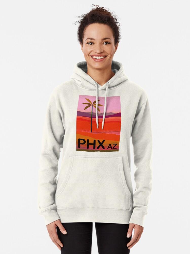 Alternate view of Phoenix Arizona Travel Poster Pullover Hoodie