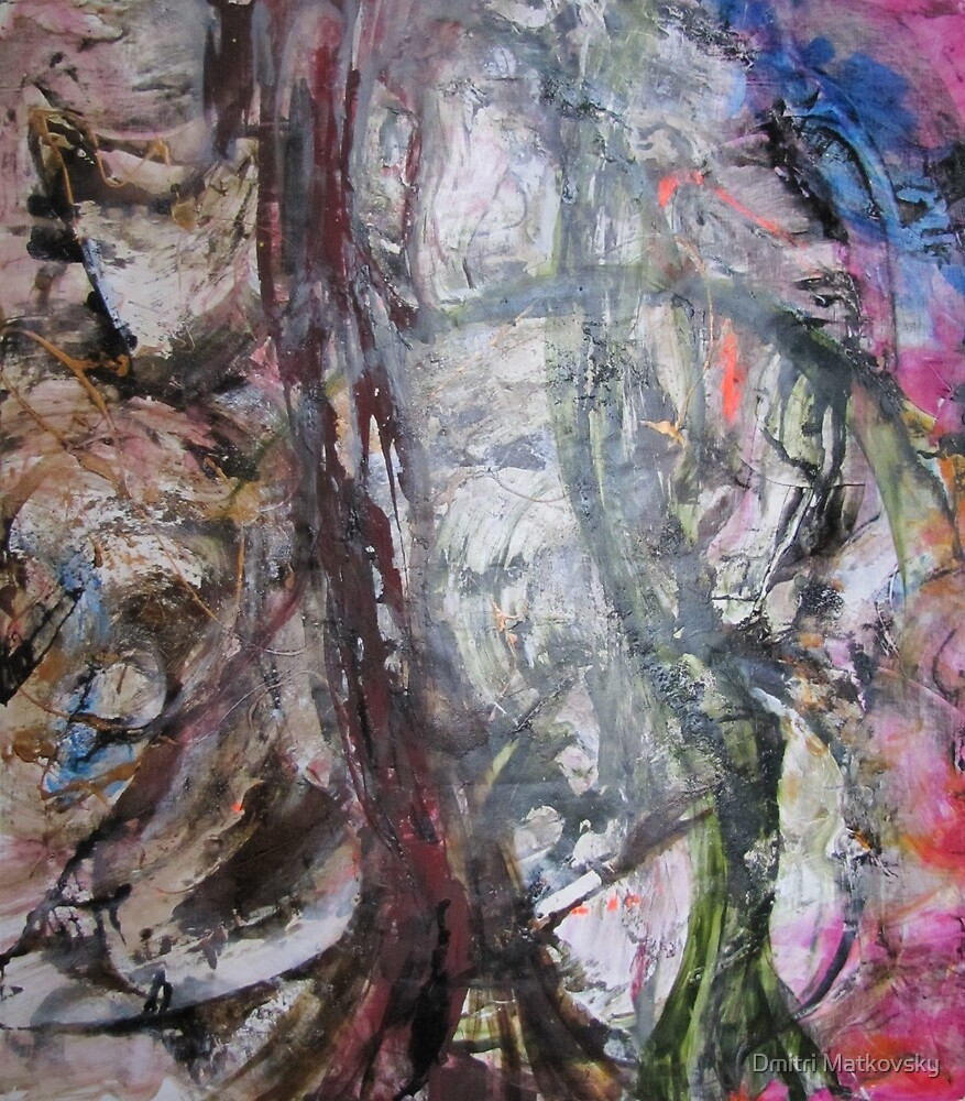 What on Earth is Happening to Our Planet? Original Abstract painting by Dmitri Matkovsky