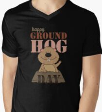 Happy Groundhog Day Men's V-Neck T-Shirt