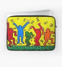 Keith Haring Beer Parody Laptop Sleeve