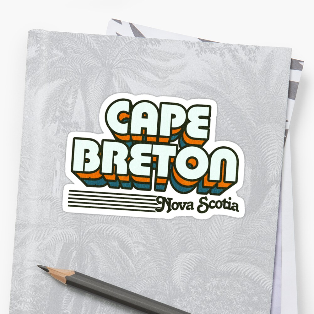 Cape Breton, Nova Scotia | Retro Stripes by retroready