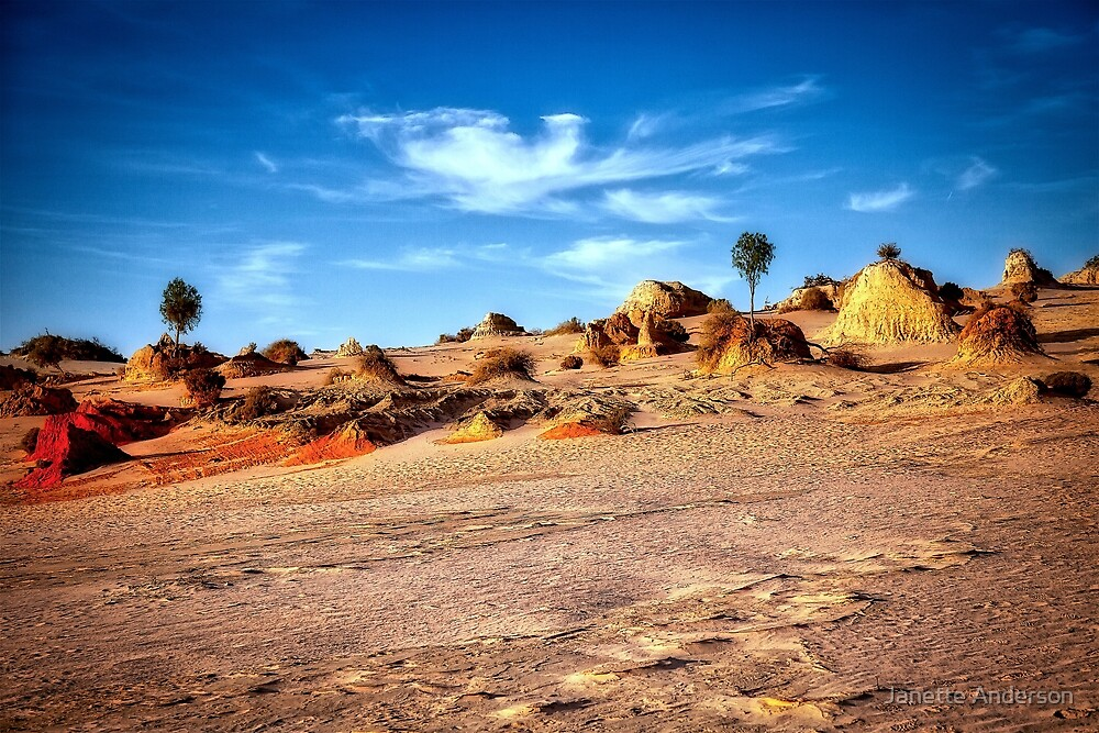 Walls of China - Mungo National Park by Janette Anderson