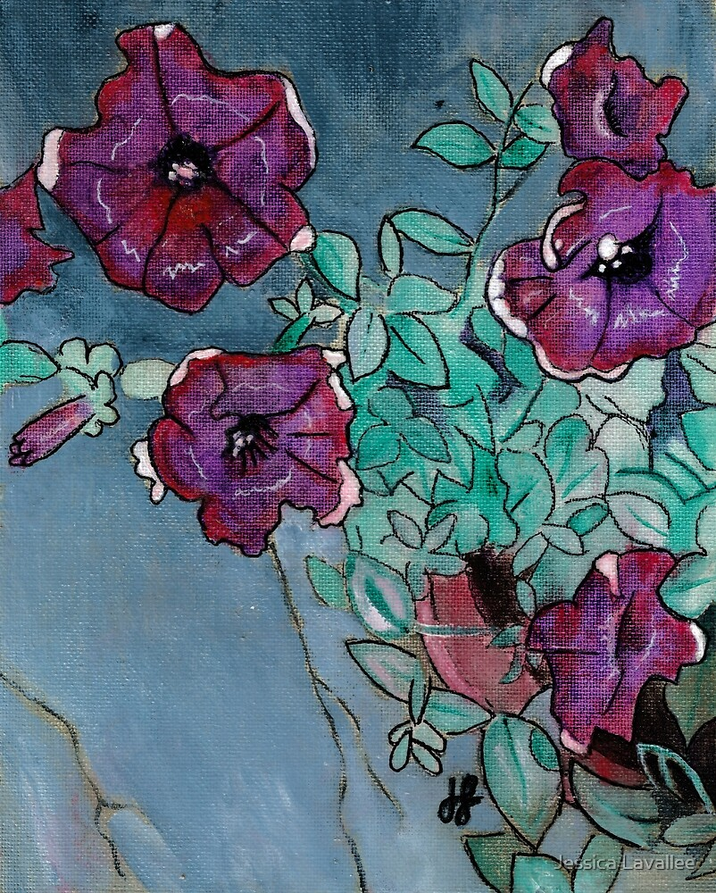 """""""Petunias"""" by Jessica Lavallee"""