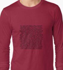 Darth Plagueis Aurebesh Long Sleeve T-Shirt