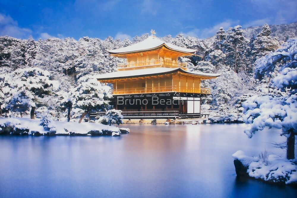 The Golden Temple in Kyoto, Japan by Bruno Beach