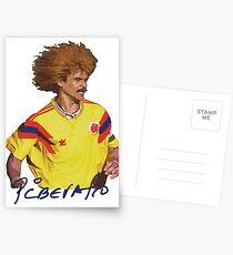 Carlos Valderrama - Football Legends Postkarten