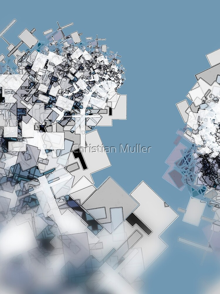 Fractal structure urban aerial view background by christianmuller
