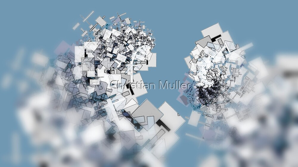 Fractal structure urban aerial view background by Christian Muller