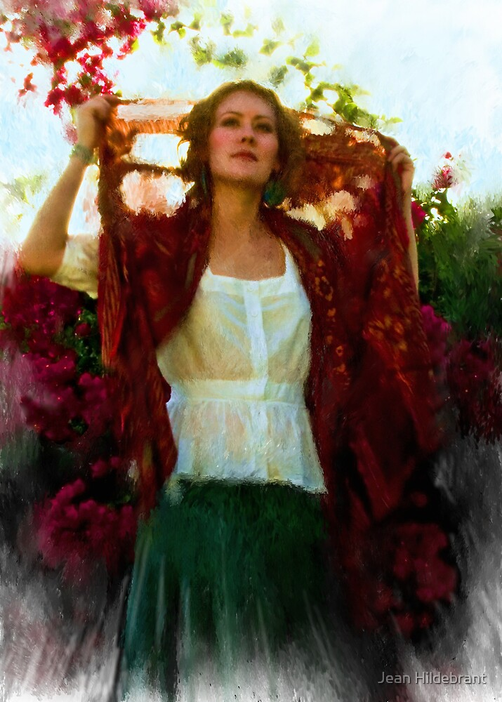 Radiant in Red by Jean Hildebrant