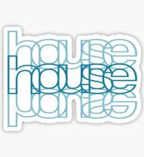 House Mirror Blue Sticker