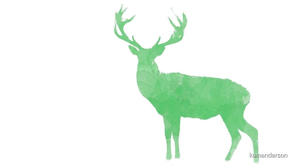 Watercolor Deer by kamanderson