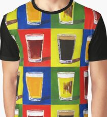 Andy Warhol Beer Pints Graphic T-Shirt