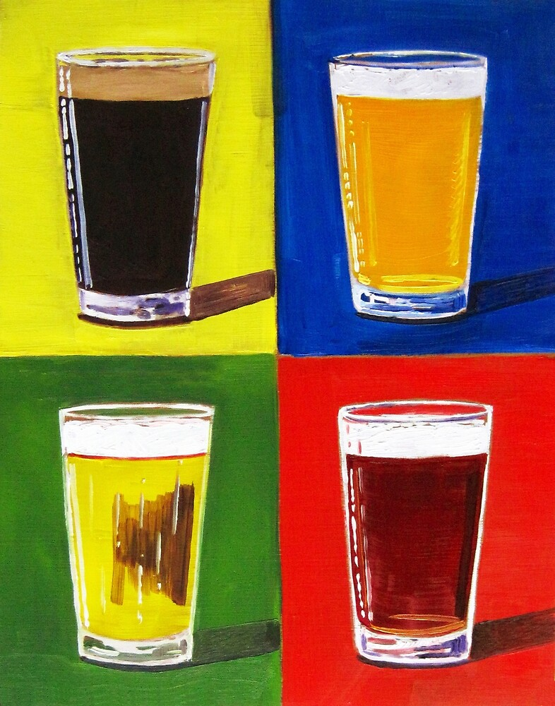 Andy Warhol Beer Pints by Scott Clendaniel