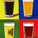 Andy Warhol Beer Pints by Scott Clendaniel