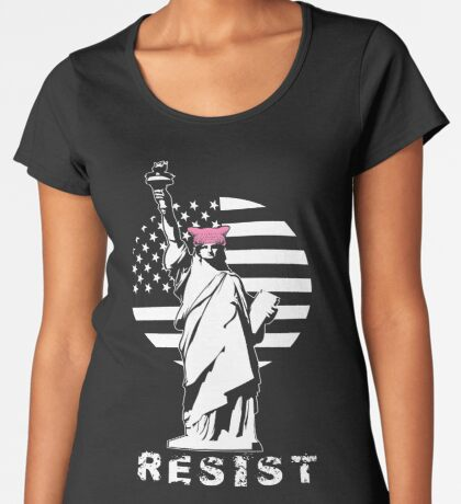 Lady Liberty Pink Protest Women's Premium T-Shirt