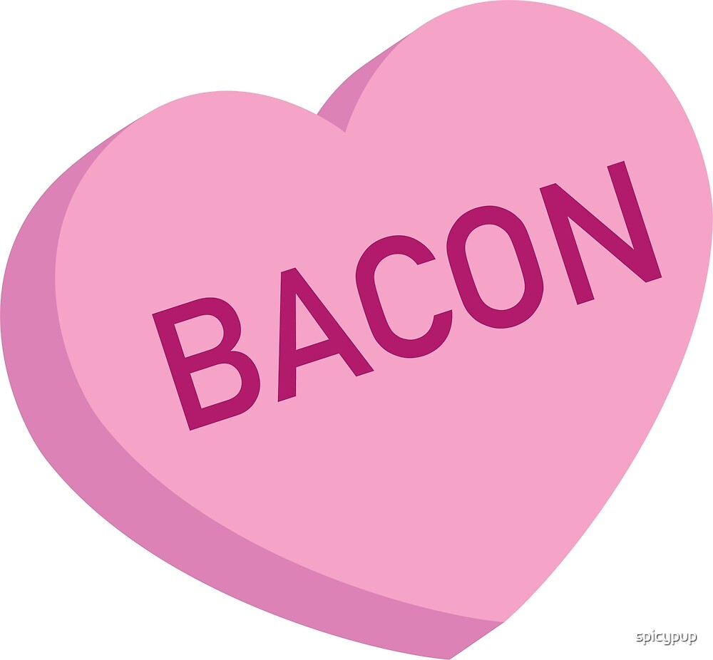 Bacon Candy Heart by spicypup