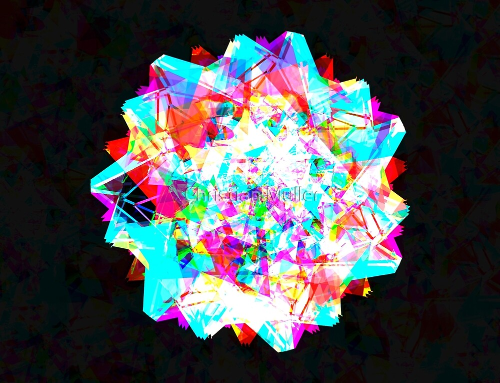 Crystal abstract geometric pattern background  by Christian Muller