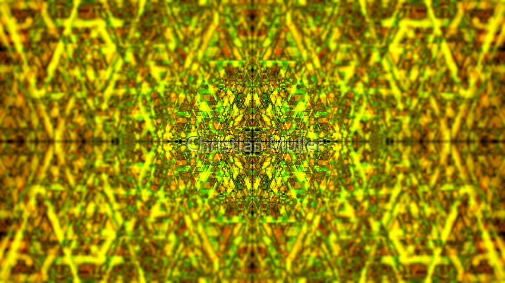 Fractal abstract geometric structure pattern background by Christian Muller