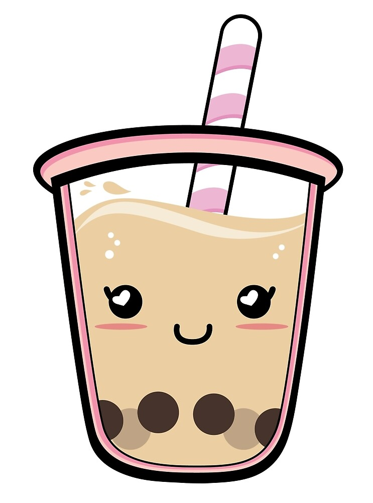Cute Boba Tapioca Drink by snackxshoppe