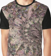 Fractal abstract geometric nature flower structure pattern background Graphic T-Shirt