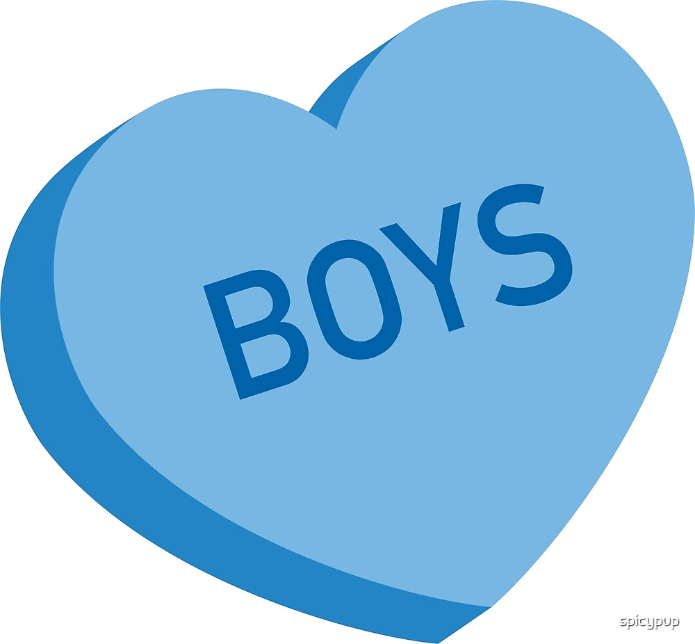 Boys Candy Heart - Blue by spicypup