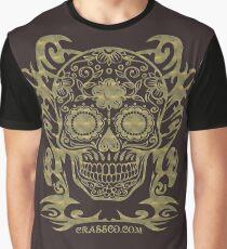 Skull Flower Totenkopf filigran Tribal Graphic T-Shirt