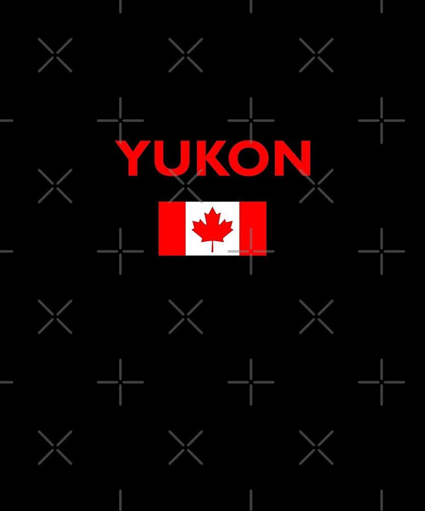Yukon Canada Canadian Flag Color Dark by TinyStarCanada