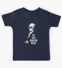 Alexander Hamilton. Eat. Sleep. Hamilton. Repeat.  Kids Tee