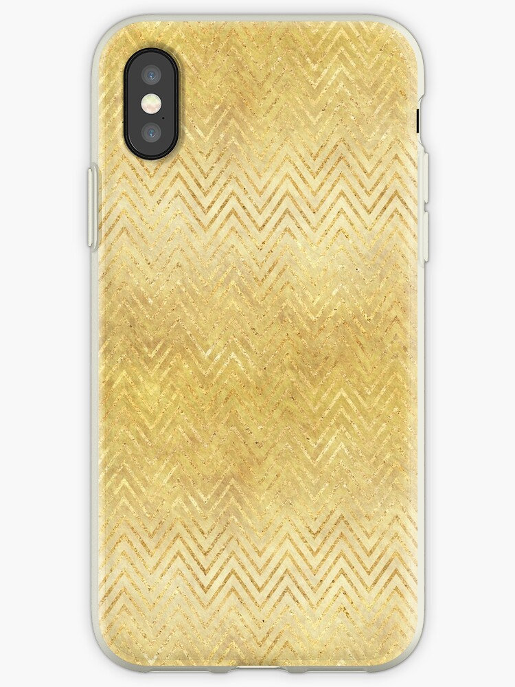 Gold Ombre Chevron Stripes by pencreations