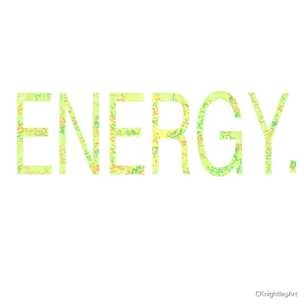 Energy Green Gold  by CKnightleyArt