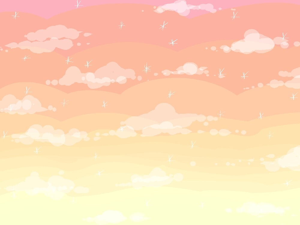 Pixel Clouds in the Sparkle Sunset by princesscallyie