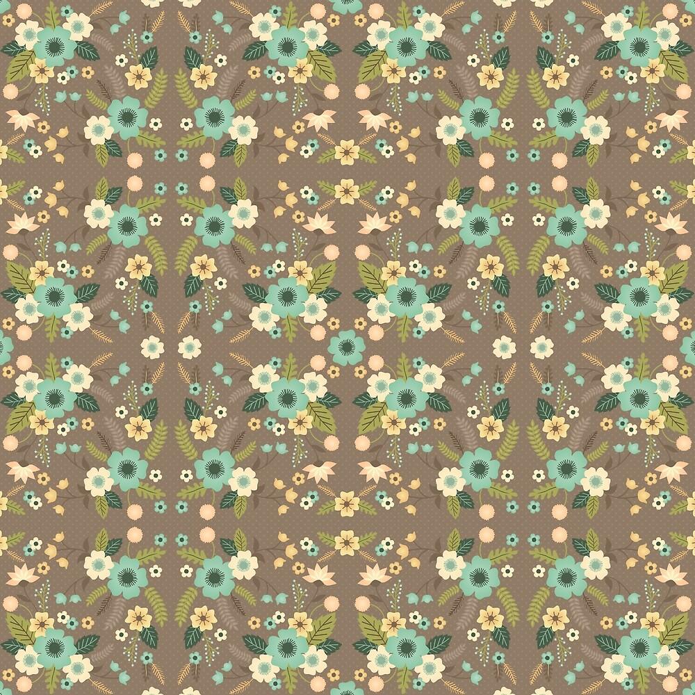 DOVE GREY FLOWERS by GBmorgana