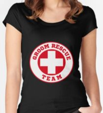 Groom Rescue Team V4 Women's Fitted Scoop T-Shirt