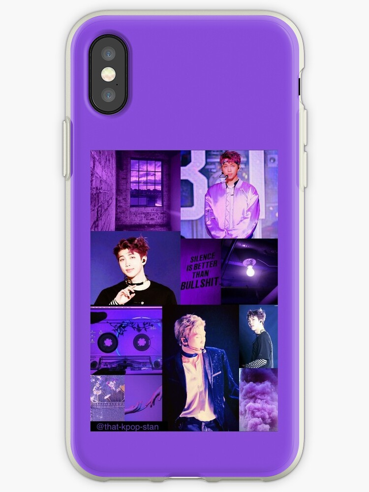 BTS RM Purple Aesthetic Collage by that-kpop-stan