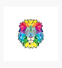 Vector Lion Photographic Print