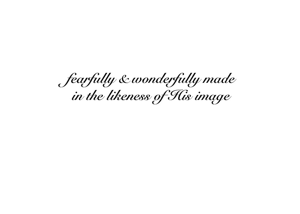 Fearfully and Wonderfully Psalm 139:14 by jnucks18