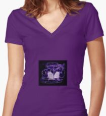 1941 Lincoln Limo Design Women's Fitted V-Neck T-Shirt