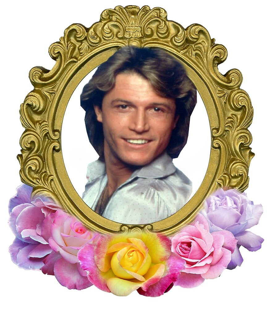 Andy Gibb Framed With Flowers by agriculture