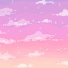Pixel Clouds in the Sparkle Sunset (Purple) by princesscallyie