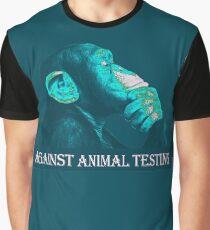 AGAINST ANIMAL TESTING Graphic T-Shirt