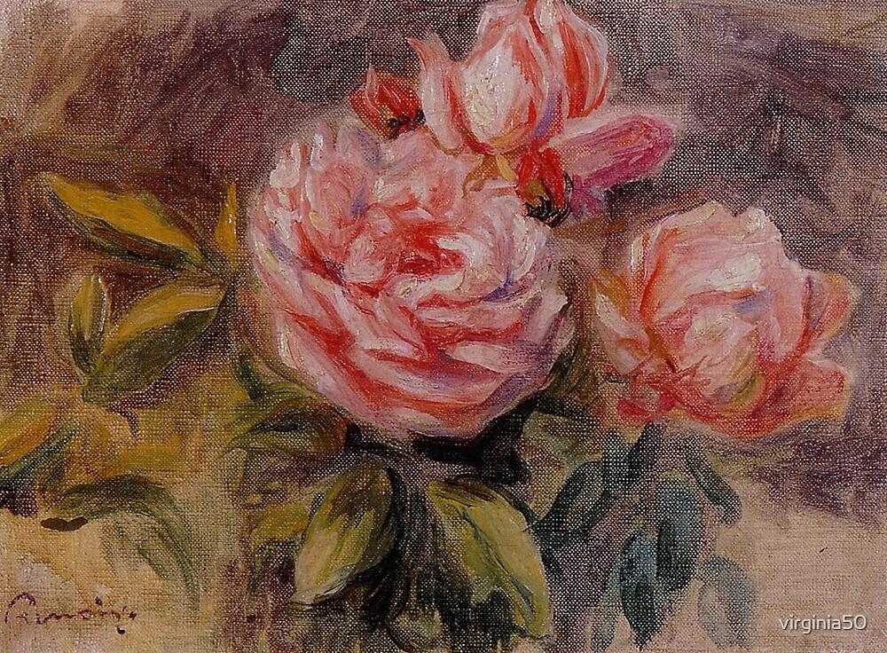 Renoir - Roses, 1910 fine art painting by virginia50