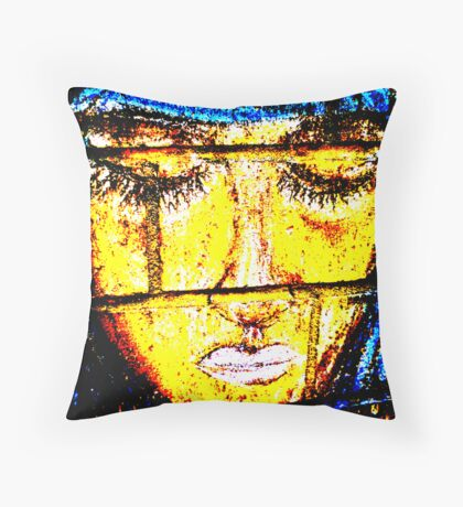 Tears of a mother Throw Pillow